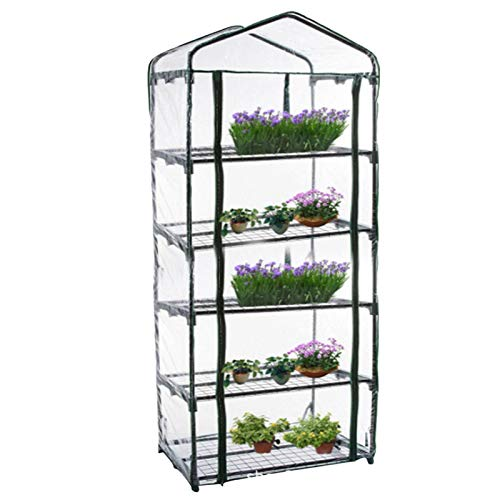 Serre en film plastique pour balcon, serre de jardin - Bâche de rechange renforcée - 5 couches en PVC - Portable - Sans support