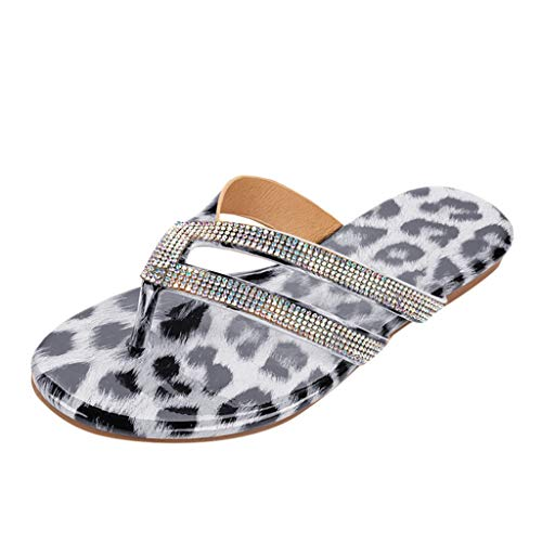Cheap Ros1ock Women Outdoor Flat Anti-Slip Slippers Snake Pattern Casual Beach Shoe Large Size Gray