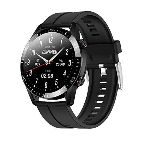 QLK Smart Watch Men's Bluetooth Llamada Bluetooth De 1.3 Pulgadas Pantalla Táctil Completa TK28 Tarifa Cardíaca Presión Arterial Monitor De Salud IP67 Smartwatch Impermeable,D