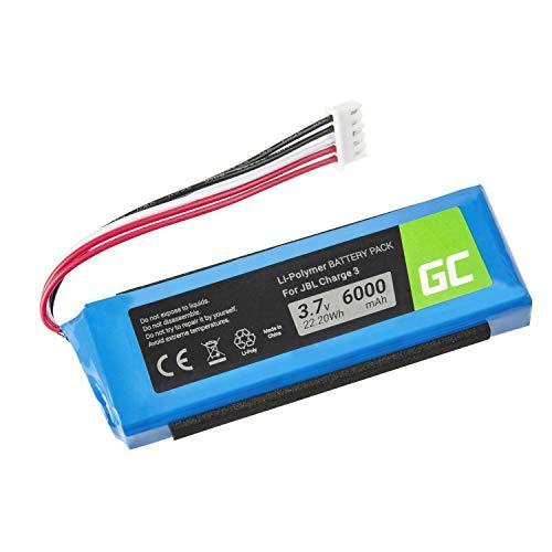 Green Cell ® GSP1029102A Akku, Batterie für drahtlosen Lautsprecher JBL Charge 3 Charge III 2016 Version (Li-Polymer Zellen 6000mAh 3.7V) Reale kapazität, Moderne Technik und zuverlässigkeit