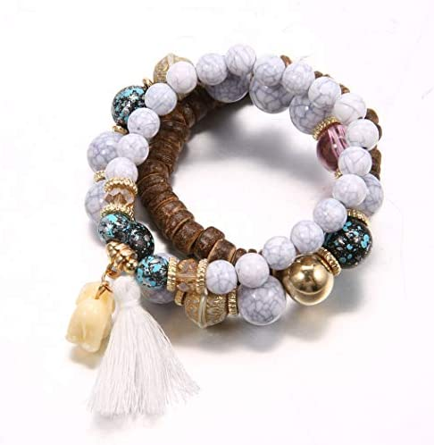 Nictemaw Bracelet Anti Anxiety Bracelet for Women Stress Relief Yoga Beads in Aromatherapy Essential product image