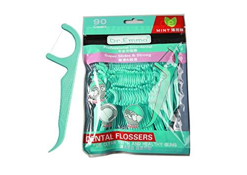 90 Premium Zahnseide-Sticks, Minzgeschmack, stark, kein Zerkleinern, vegane Zahnseide, Hygienistische Pflege