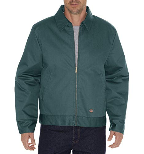 Dickies Men's Insulated Eisenhower Front-Zip Jacket,Lincoln Green,Large/Regular,Lincoln Green,Large/Regular