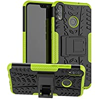 XINYUNEW Funda Huawei Honor 8X, 360 Grados Protective+Pantalla de Vidrio Templado Caso Carcasa Case Cover Skin móviles telefonía Carcasas Fundas para Huawei Honor 8X-Verde