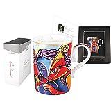 """Una delle migliori tazze in porcellana fine per gli amanti del tè. Ha stampato modelli moderni con Pierre Dissard francese, contemporanea, istumentalista artista opera più riconoscibile """"Virtuoso"""". Questa grande tazza da tè è ideale per tè, caffè o q..."""