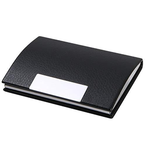 flintronic Tarjetero para Tarjetas de Visita, Soporte para Tarjeta con Hebilla Magnética, Libro de Tarjeta de Presentación Portátil de Gran Capacidad de Cuero de PU para Hombres y Mujeres
