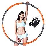 TTMOW Fitnessreifen und Springseil Set, Hula Hoop Reifen mit Schaumstoff mit springseil Für Fitness, Ausdauer & Abnehmen(orange)