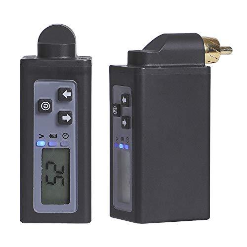 Hawink Wireless Tattoo Battery Fuente de alimentación para tatuaje Recargable USB Pantalla digital 1500mAh Máquina de tatuaje Pluma Batería de litio dedicada Conector RCA P197-RCA