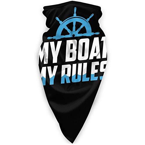 My Boat My Rules Bufanda Deportiva a Prueba de Viento al Aire Libre Cara Bufanda fría Cuello Diadema cálida Pañuelo para la Cabeza