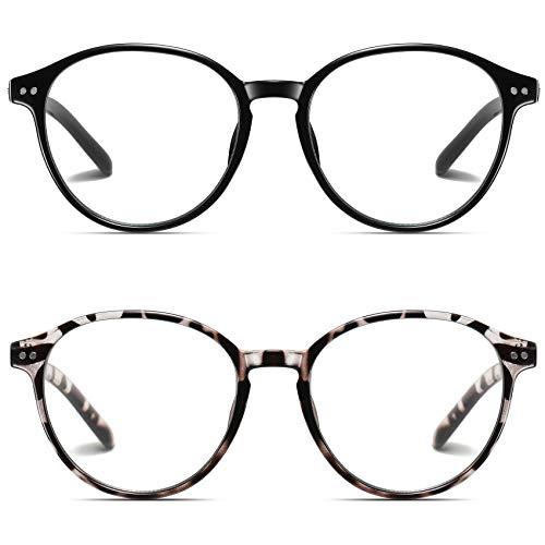 STORYCOAST Blue Light Blocking Glasses for Women Men,Round Frame Eyeglasses,Unisex Gaming Computer Glasses