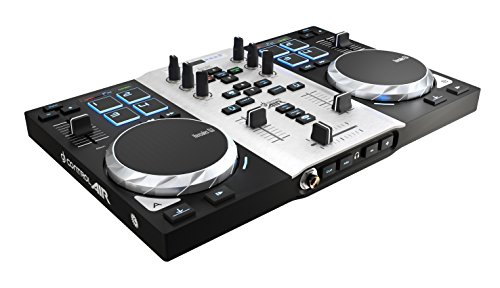 Hercules DJ Control Air S Series (2-Deck DJ Controller, Air Control, 8 Pads, integr. Soundkarte, DJUCED 18°, PC / Mac)