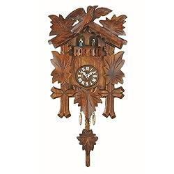 Trenkle Kuckulino Black Forest Clock with Quartz Movement and Cuckoo Chime, Turning Dancers TU 2018 PQ
