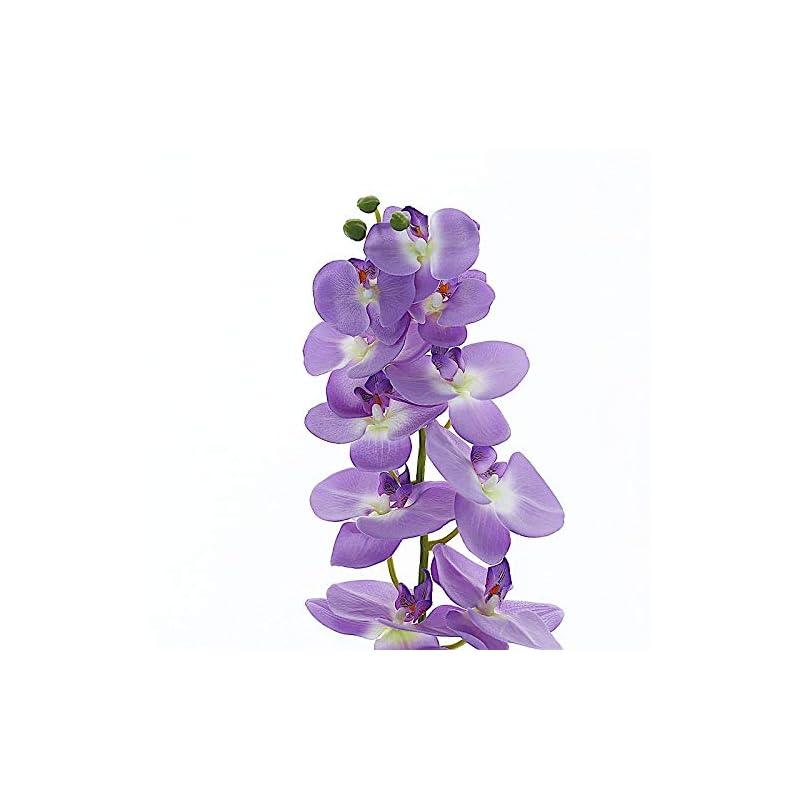 silk flower arrangements balsacircle 2 pcs 40-inch tall lavender artificial faux silk orchid flowers sprays stems - wedding events arrangements centerpieces supplies