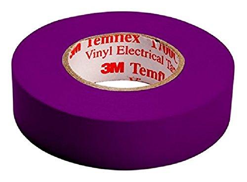 3M Temflex tvio1925 ,1500 Vinyl Isolierband, 19mm x 25m, 0,15mm, Lila,1er pack