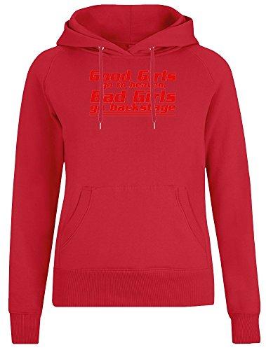 Bad Girls Go Backstage Jacke mit Kapuzenpulli für Frauen - 100% Weiche Baumwolle - Benutzerdefinierte Bedruckte Damenbekleidung Large
