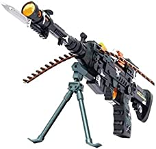 """WON BRAND 25"""" Musical Army Style Toy Gun for Kids with Music, Lights and Laser Light"""