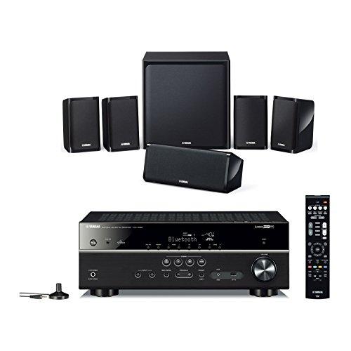 Composto da sintoamplificatore AV HTR-4071 (come RX-V483) Sistema di diffusori a 5.1 canali NS-P40 MusicCast e Bluetooth
