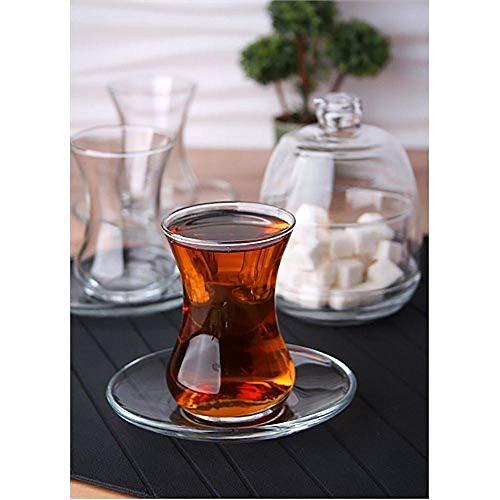 Kaiser-Handel.de - Set di 13 bicchieri da tè Cay Bardaklari, 6 bicchieri, 6 piattini, 1 zuccheriera basak-s1
