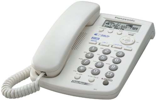Panasonic KX-TSC14W 2-Line Corded Speakerphone with Caller ID (White)