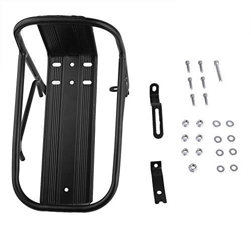 Portapacchi Anteriore per Bicicletta - Supporto per Portapacchi Anteriore per Bicicletta in Lega di Alluminio Portapacchi Anteriore per Bicicletta Supporto per Bicicletta