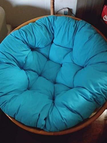 Poduszka Do Hamaka, Zagęścić Okrągły Kosz Krzesło Obrotowe Poduszka Poduszka Wiklinowy Bujak Wiszący Kosz Hamak-40X40Cm (16X16Inch) Sky Blue