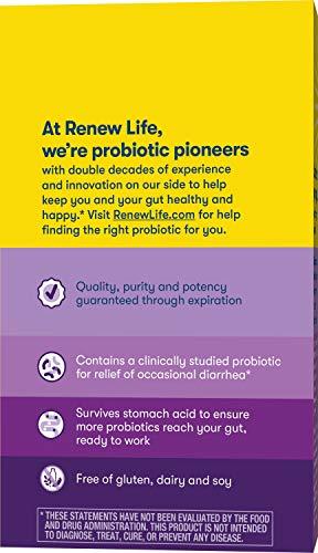 Renew Life Adult Probiotic - Ultimate Flora Saccharomyces boulardii Probiotic Supplement - Shelf Stable, Gluten, Dairy & Soy Free - 6 Billion CFU - 20 Vegetarian Capsules (Package May Vary)