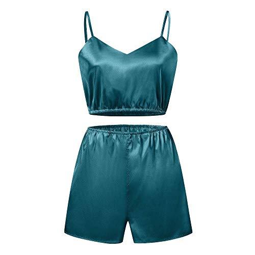 CUYOC Traje De BañO Deportivo para Mujer Pijamas De Camisola Pijamas para El Hogar Conjunto De Dos Piezas
