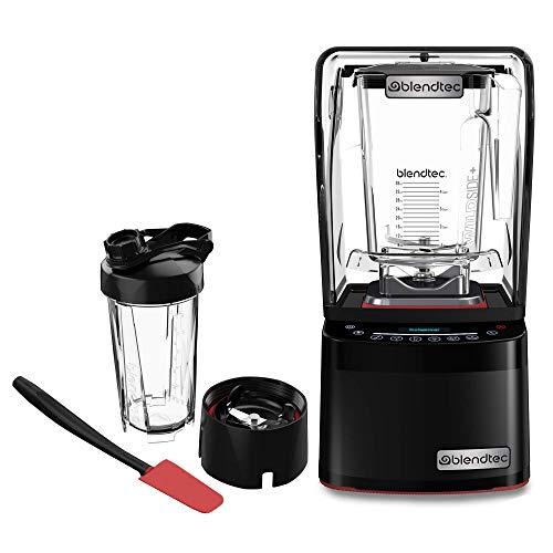 Blendtec Professional 800 Blender-WildSide+ Jar (90 oz), Blendtec GO Cup (34 oz) and Spoonula Spatula BUNDLE - Sealed Sound Enclosure - Professional-Grade Power - 11-Speed - Self-Cleaning - Black
