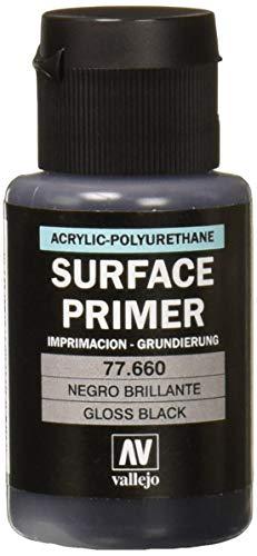 Acrylicos Vallejo 32ml Metal Color–Brillante Negro primer