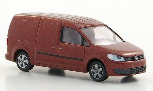 VW Caddy Maxi Kasten, met.-dkl.-rot, 2011, Modellauto, Fertigmodell, Rietze 1:87