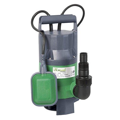 Ribiland 01168 multifunctionele pomp met vlotters, 400 W, groen