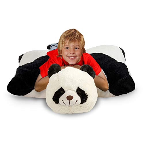 Pillow Pets Jumboz, Panda, 30' Jumbo Folding Plush Pillow
