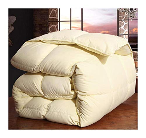 Winter warme Decken Decke Betteinsatz Füllstoff 220 * 240 schwere Gans Daunendecke König Königin Twin-Size (Color : Cream, Size : 220x240 3kg)