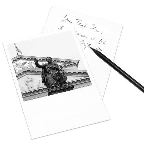 10er-Set Postkarte München im Polaroid-Look - DIN A6 Hochformat - Motiv: Nationaltheater