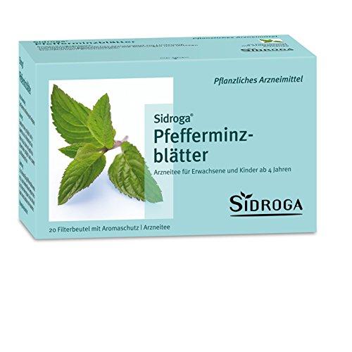 Sidroga Pfefferminzblätter-Tee – Arzneitee bei Magenkrämpfen und Blähungen – 20 Filterbeutel à 1,5 g