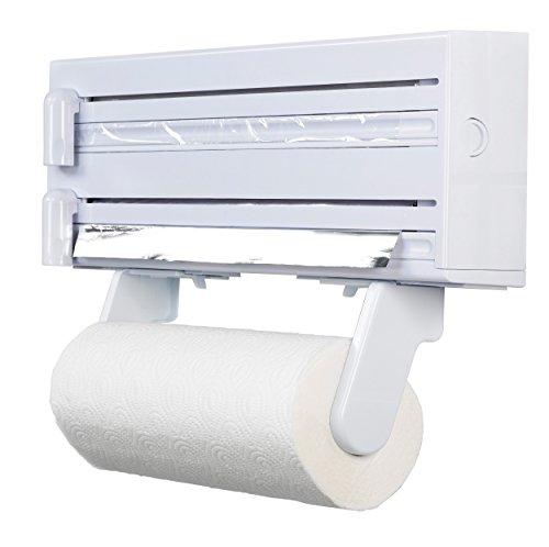 KitchenCraft 3-in-1 Cling Film and Kitchen Foil Dispenser / Paper Towel Holder