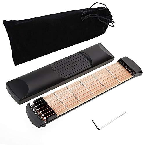 Pocket Guitar Tragbare Gitarre 6 Saiten Übung Gerät Akkord Finger Übung für Professional, Anfänger