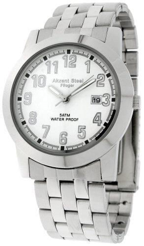 Acento de Hombre Relojes con Banda de Acero Inoxidable 285422000010
