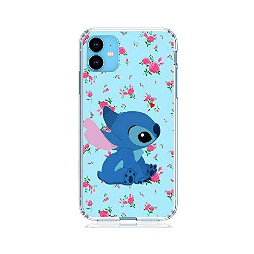 rongyixxzx Clear Coque Soft Case Thin Flexible TPU Sanft Protective Cover for Apple iPhone 11-Stitch-Ohana Cute 5