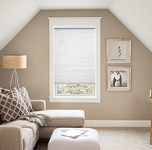 """BlindsAvenue Custom ¾"""" Pleat, Cellular Shades, Color Pure White,Light Filtering Fabric. Available in 6 LFT Systems. Customized to Any Width Between 18""""-96"""" Wide & Any Height Between 18""""–84"""" high"""
