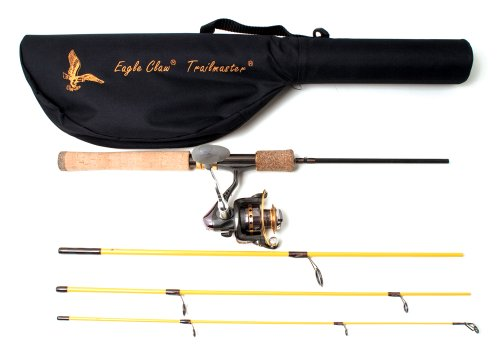 Eagle Claw Trail master Combo 66 and 6Bb Spin Fishing Rod and Reel (Pack of...