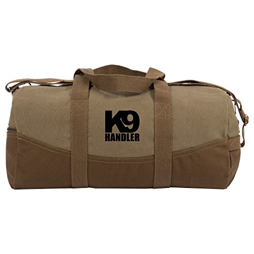 K9 Handler Two Tone Brown Canvas 19 inch Duffle Bag with Detachable Strap
