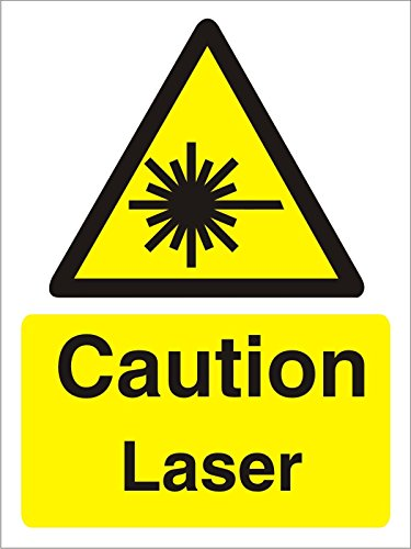Seco Caution Laser Sign-Self Lijm Vinyl 1 mm semi-hard plastic 300mm x 400mm