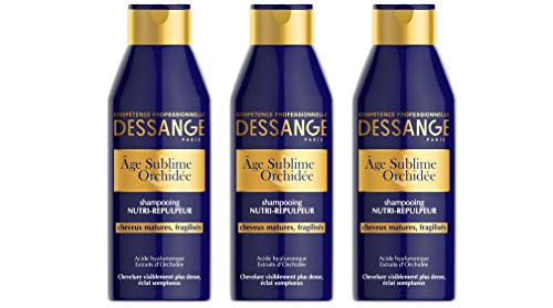 DESSANGE - Age Sublime Orchidée Shampoing Nourrissant-Repulpeur Pour Cheveux Matures Et Fragilisés - 250 ml - Lot de 3