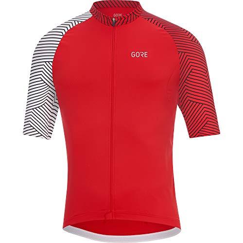 GORE Wear C5 Herren-Kurzarmtrikot, XL, Rot / Weiß
