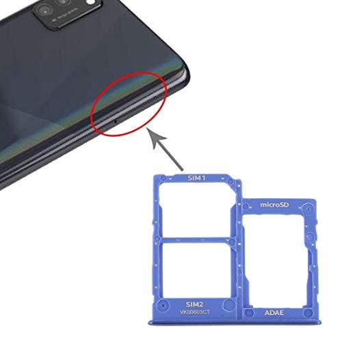 GUODONG Accesorios de reparación La Bandeja de Tarjeta SIM Bandeja Tarjeta SIM Bandeja + Tarjeta + Micro SD for Samsung Galaxy A41 / A415 Piezas de Repuesto (Color : Blue)