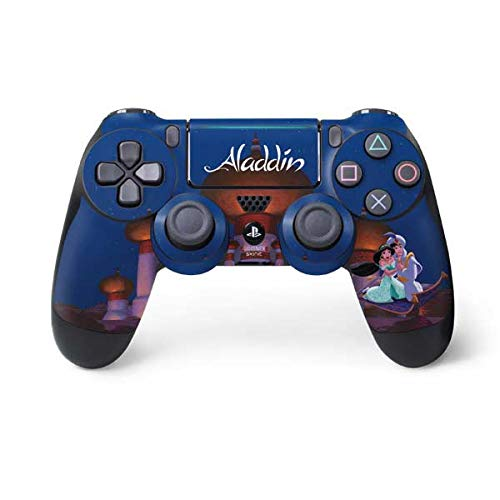 Skinit Decal Gaming Skin for PS4 Pro/Slim Controller - Officially Licensed Disney Aladdin and Jasmine Magic Carpet Design