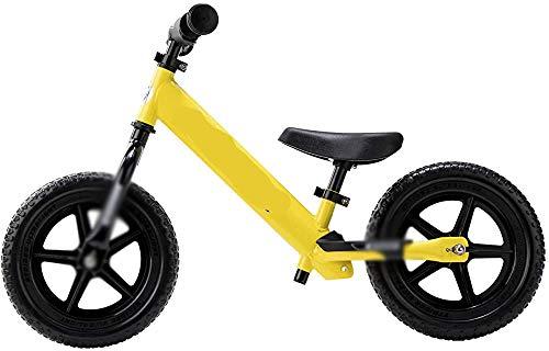 Neumáticos de goma, Balance de bastidor de acero Bicicleta para niños Bicicleta para niños Bicicleta deportiva, tóner con marco de acero y asiento para niños,Yellow