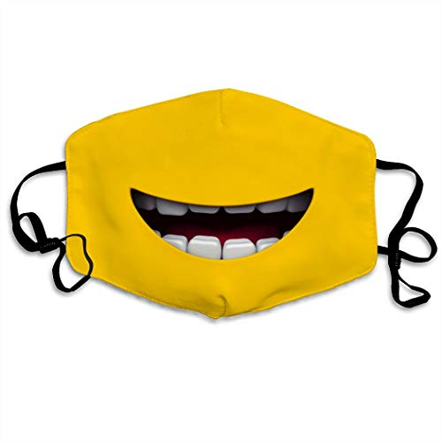 Cartoon Funny Mi-Nion Smile Dust Mask Mouth Face Adjustable Breathable Washable Reusable Windproof Cover