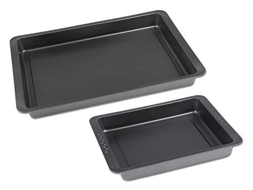 CHG 9550-104 Set de Plaque à gâteau 2 pièces en Anthracite métallisé, Acier Inoxydable, 42 x 30 x 5 cm